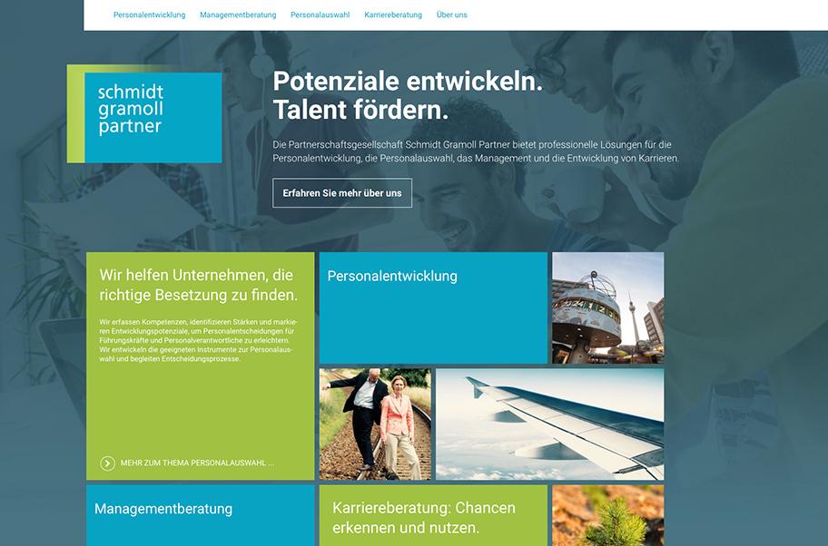 Webdesign für Schmidt Gramoll Parnter